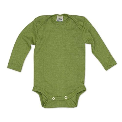 (Cosilana Baby Body Wollbody®, Größe 86/92, Farbe Grün - Wollbody®GmbH)