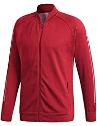 pretty nice 02666 1f6cd adidas M Id Kn Bomber, Giacca Bomber Uomo, Rosso (BordeauxNoble Maroon