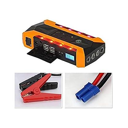 WJJ- 600A Peak 22000mAh arrancador portátil de salto de coche, batería de emergencia Booster Pack, banco de energía inteligente con linterna LED, pantalla LCD y brújula