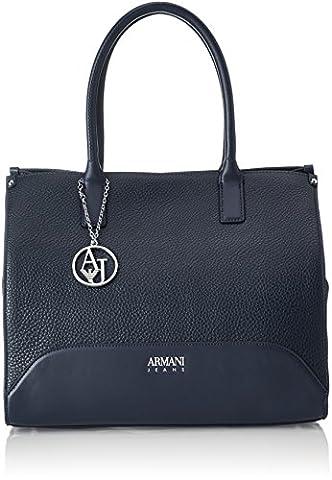 Armani Jeans Borsa Shopping, Cartables femme, Blau (Dark Navy), 30x15x35 cm (B x H T)