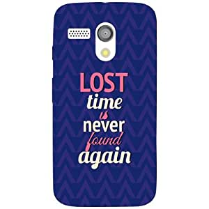 Moto G Phone Cover - Lost Time Matte Finish Phone Cover