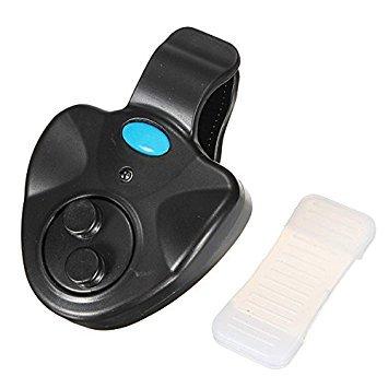 TOOGOO(R) Pesca mordedura de alarma Indicador de Bell LED impermeable con cana + Baterias Nightlight - Negro