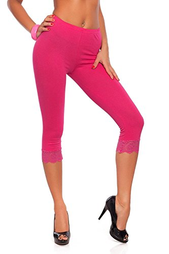 Mymixtrendz® Wome's Cropped 3/4 Lenght Viscose Leggings Ladies Leggings With Lace