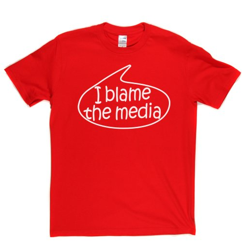 I Blame The Media TV Rebel Anarchy Lifestyle Resistance T-shirt Rot