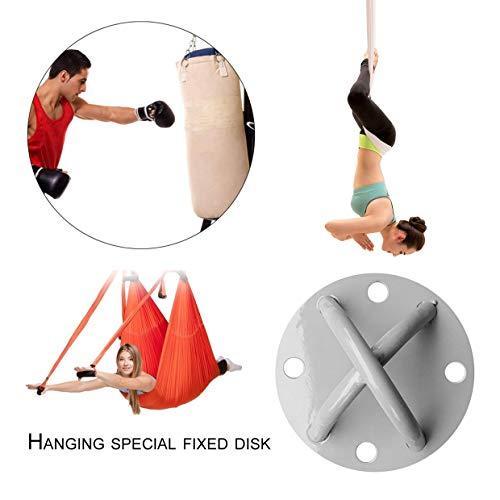 Qewmsg Suspension Rope Trainer X-Mount Anker Sandsäcke Feste Schnalle Yoga Hängematte Haken