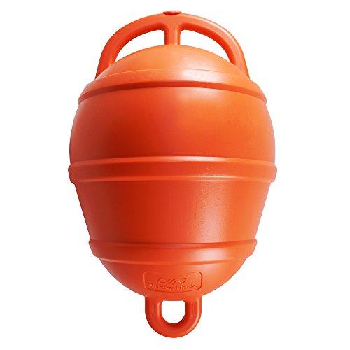 Nuova Rade Boje | Festmacherboje Verankerungsboje | Bojen | 39 cm lang | ø 25 cm | in Weiß, Gelb und Orange (Orange)