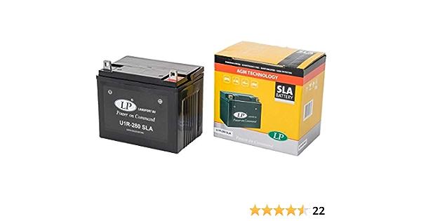 Landport U1r 280 Sla Batterie 12v 24ah Für Rasenmäher Rasentraktor Aufsitzmäher Inkl 7 50 Batteriepfand Auto