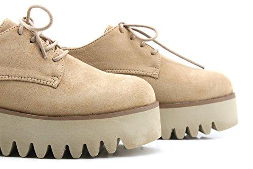 MODELISA , Chaussures de ville à lacets pour femme Sable