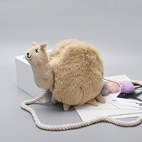 Schulter Messenger Bag Mini niedlichen Plüsch Alpaka Mode Cartoon Elch Studentin Schulter Plüsch weiblichen Beutel Schulter tragbare Umhängetasche -