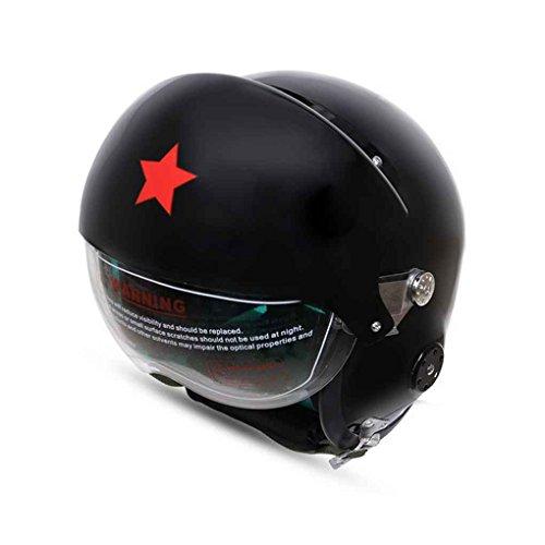 Vintage unisex antivento del casco della motocicletta del motociclo mezzo del fronte vetroresina del casco del motociclista racer equitazione caschetto di protezione regard