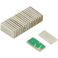 first4magnets F1051SA-20 N42 - Juego de 20 imanes de neodimio (adhesivos, 10 x 5 x 1 mm, con fuerza de sujeción de 0,6 kg)