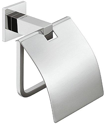 Moderner Klopapierhalter chrom poliert WC-Papierhalter Bad-Accessoire Wand-Toilettenpapierhalter Messing   Modell Version H4050   Rollenhalter verchromt poliert inkl. Deckel für die Wandmontage   Möbelbeschläge von GedoTec