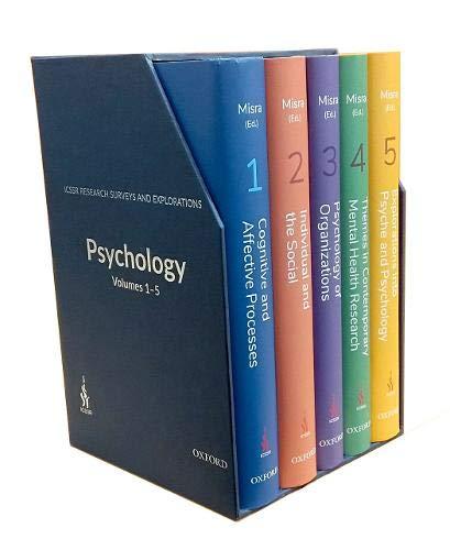 ICSSR Research Surveys and Explorations: Psychology, Vols 1-5