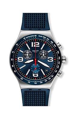 Swatch Reloj Cronógrafo para Hombre de Cuarzo con Correa en Caucho YVS454 de Swatch