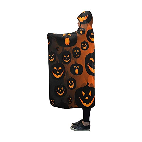 (JOCHUAN Mit Kapuze Decke Abstrakte Girlsboys Kinder Halloween Decke 60x50 Zoll Comfotable Mit Kapuze werfen Wrap)