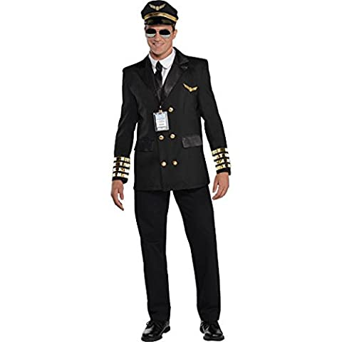 Christys Dress Up Adults Captain Wingman Costume - Captain Wingman -UK- Large