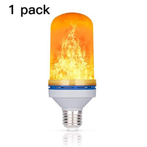 4W LED Flamme Effekt Glühbirne, YuamMei 4 Modi mit Kopf, E27 Basis Dekoration flackernden Feuer Licht für Halloween/Weihnachten / Home/Bar / Restaurant/Party (1 Pack)