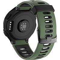 Simpleas siliconen rubberen horlogeband met gesp voor compatibel met Garmin Forerunner 235/735XT/220/230/620/630 Band, waterdichte vervangende band, Patroon 0