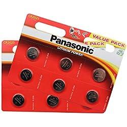 Panasonic unités 12 piles au lithium CR2025 3 V piles bouton multi-usages