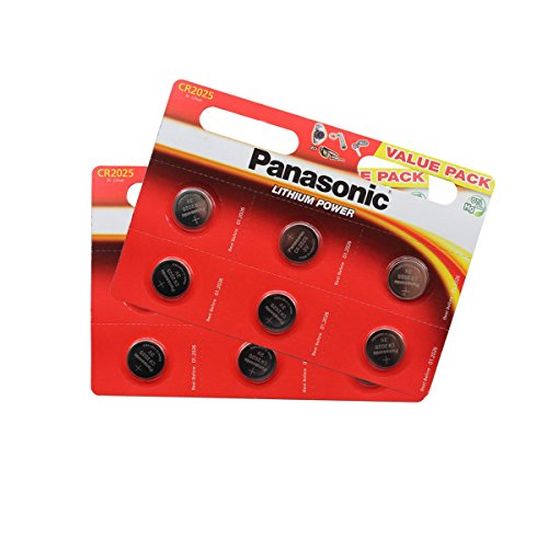 Panasonic CR2025 Lithium Knopfzellen Batterie 12 Stück im Blisterverpackung - 2025 3v Lithium-batterie