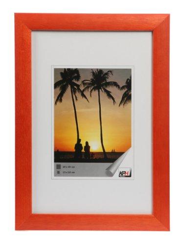HR-11 Bilderrahmen Holz 13x18 bis 50x70 Bild Foto Rahmen Blau Braun Rot Natur: Farbe: Orange | Format: 30x40