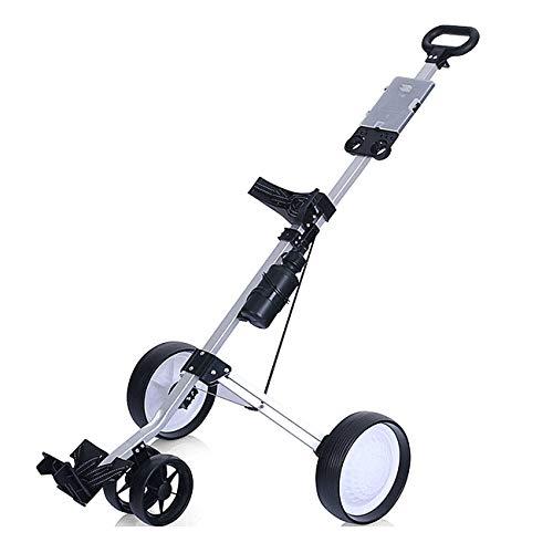 Mitrc 4-Rad-Golfwagen, tragbarer Klappwagen, Multifunktionspanel Panel Mit Flaschenhalter, Shun Slip Wheel Push-Golfwagen (Cup Cart Holder Golf Push)