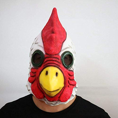 XINXI Home Parrucca Maschera di Halloween Testa di Gallo Maschera Parrucca in Lattice