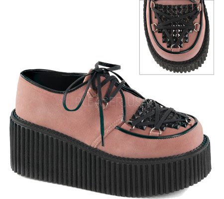 Demonia Creeper-216 B. Daim Vegan Rose