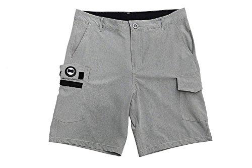 ISLAND DAZE Insel Daze BBO-Herren Flaschenöffner Hybrid Golf, Boardshort, Heckklappe Quick Dry Swim Shorts, Grau, 29