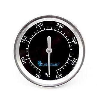 Lantelme Termómetro de barbacoa a prueba de agua de acero inoxidable (5831) Serie analógica 400 Negro (bimetálico)