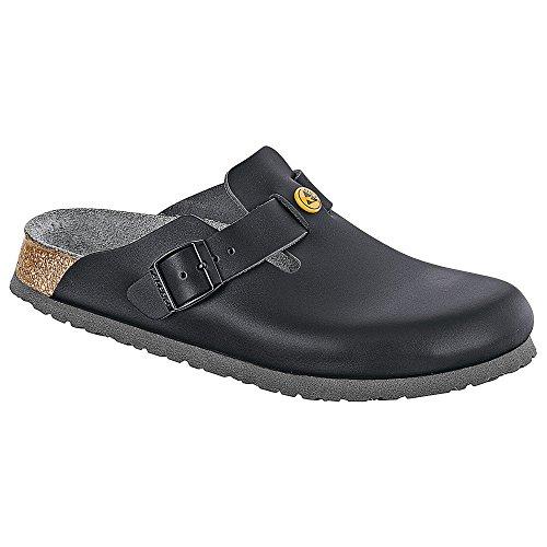 Birkenstock 61360-45-normales Schuh BOSTON Antistatik/Naturleder SCHWARZ Gr. 45 - normales Fußbett, Größe (Stein Birkenstocks)