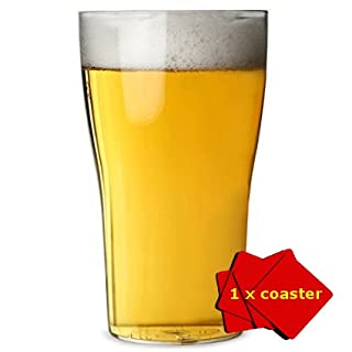 Set of 6 Unbreakable Polycarbonate Plastic Pint Glasses. Capacity (1 pint / 568ml / 20oz). Ideal for bbq's, camping, glamping, boats and general use around the home inside or out. Includes 1 x AIOS coaster. Dishwasher safe.