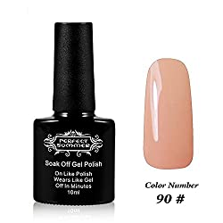 Perfect Summer UV Led Gel Nail Polish Color 10ml Soak Off Gel Manicure product Yellowish Pink