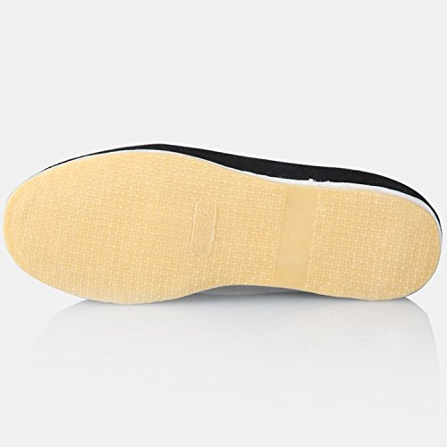 Oasap Herren Traditionelle Tai Chi Kung Fu Slippers Loafer Black