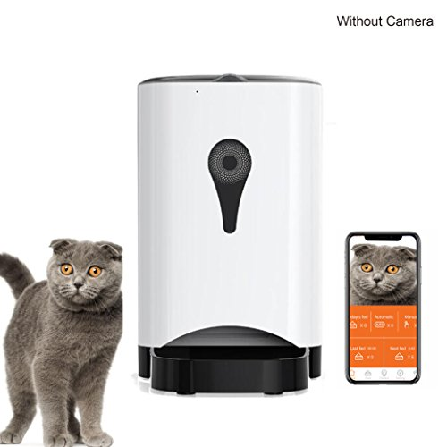 OOSSXX SmartFeeder, Automatic Pet Feeder for small Dog or Cat,Remote by Iphone,Andriod or schedule Feeder. (Feed-adapter Power)