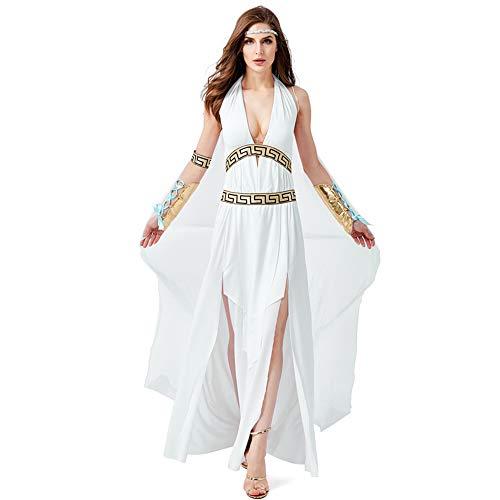 Qy Damen Halloween Kleid, ägyptische Königin Verkleiden Sich, Römische Göttin Robe, Griechische Mythologie, Cosplay Kostüm, Festival Performance - Griechisch Mythologie Kostüm Kinder