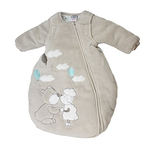 Jacky unisex Winter Schlafsack mit abnehmbaren ärmeln, Teddy, Beige, Größe: 86/92, 322501-99