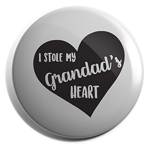 Hippowarehouse I Stole My Grandad's Heart (Slanted) Badge Pin 25mm 38mm 50mm