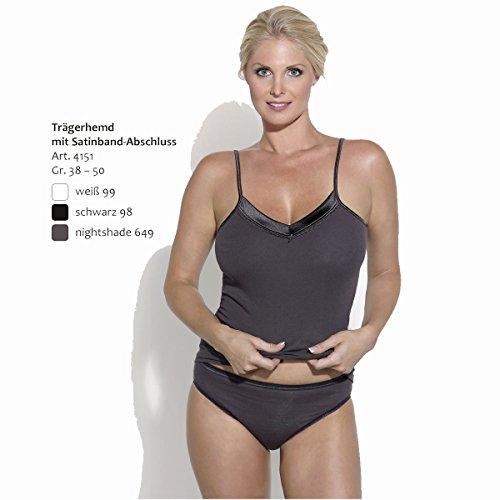 Ott-tricot Unterhemd Damen Trägerhemd mit Satinband-Abschluss 100% gekämmte BW in 7 Größen 38 - 50 Weiß