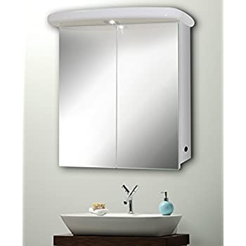 Slimline bathroom mirror cabinet fully certified to british slimline bathroom mirror cabinet fully certified to british standards 65cmh x 60cm aloadofball Choice Image