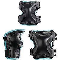 Rollerblade Protecciones X-Gear W 3 Pack, Mujeres, Negro, Talla Única