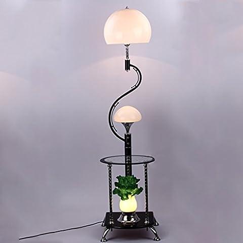 NAUY- Stehleuchten Moderne Chinesisch mit Couchtisch Stehleuchte Ecktisch Kohl Dekorative Beleuchtung ( Farbe : Weiß )