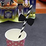 Dreamer Life Carnival Supplies Wedding Birthday Party Party Funny Fun Straw Party Supplies(10 Bow Tie + Straw)