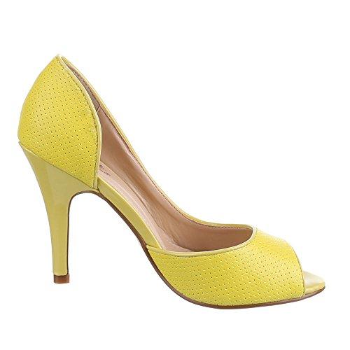 Ital-Design , Escarpins femme Jaune - Jaune