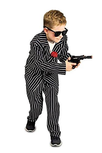 Kinder Kostüm Mafiosi Mafia Gangster zu Karneval Fasching Gr.140/152 (Mafia Gangster Halloween Kostüme)