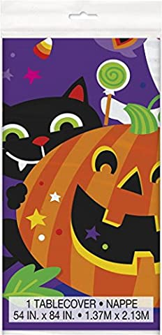 Plastic Happy Halloween Tablecloth, 7ft x 4.5ft