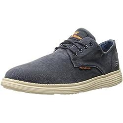 Skechers STATUS- BORGES, Zapatillas de Deporte, Hombre, Azul (NVY)