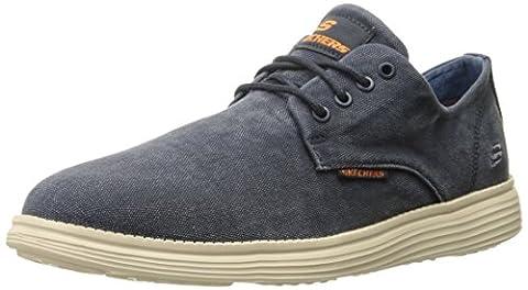 Skechers Status- Borges, Men Low-Top Sneakers, Blue (Nvy), 11 UK