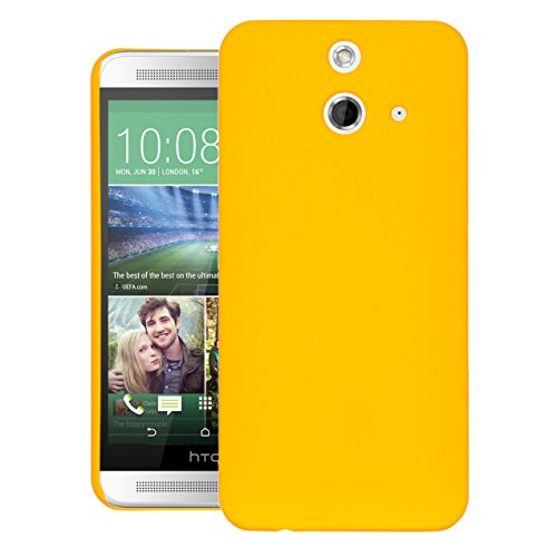 ZOUK Thin Fit Case for HTC One E8 Dual Sim Back Cover Sleek Rubberised Matte Hard Case Back Cover For HTC One E8 Dual Sim (Yellow)  available at amazon for Rs.250