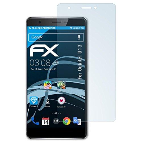 atFolix Schutzfolie kompatibel mit Oukitel U13 Folie, ultraklare FX Bildschirmschutzfolie (3X)
